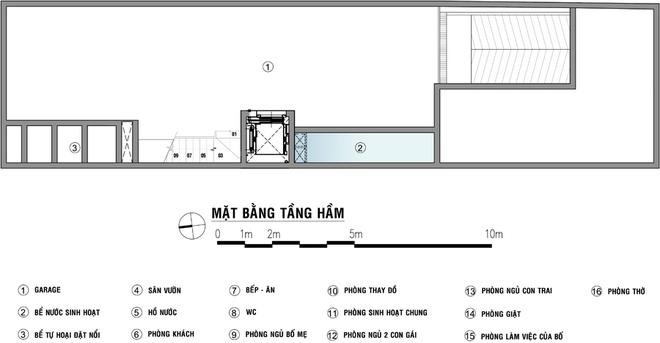 Bản thiết kế tư vấn không gian tầng hầm.