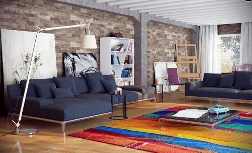 70 7e85 Phòng khác sống động với thảm nhiều màu