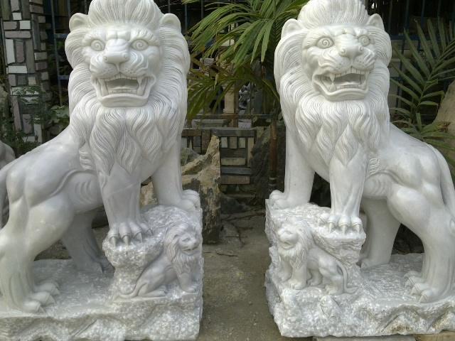 bày sư tử hợp phong thủy
