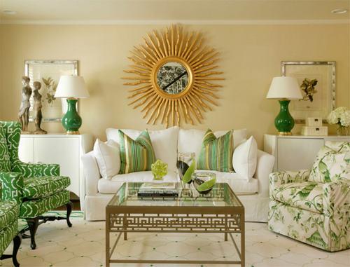 01 1e28 Những chiếc ghế màu xanh lá mát mẻ cho phòng khách
