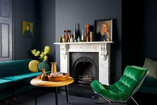 14 54f0 Những chiếc ghế màu xanh lá mát mẻ cho phòng khách