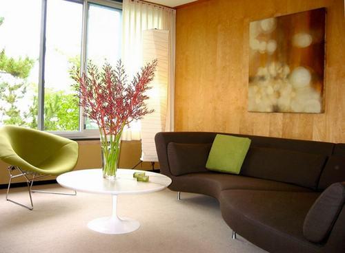 66 f98b Những chiếc ghế màu xanh lá mát mẻ cho phòng khách