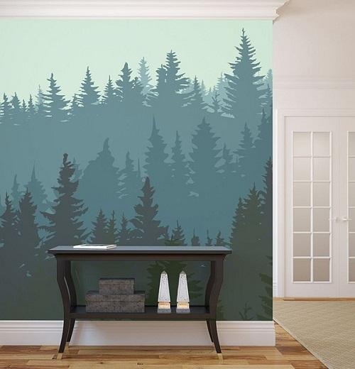 điểm nhấn cho tường bằng giấy