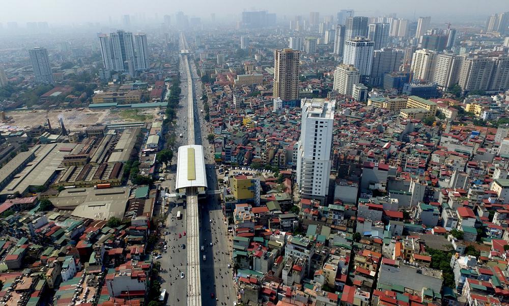 Toàn cảnh tuyến đường sắt trên cao Cát Linh - Hà Đông sắp chạy thử ở Hà Nội