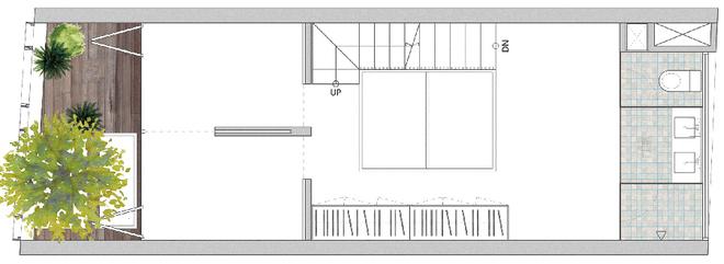 Tầng 2 nhà ống