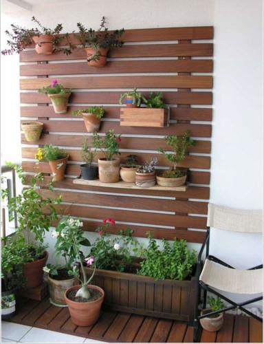 vườn treo tường tại ban công