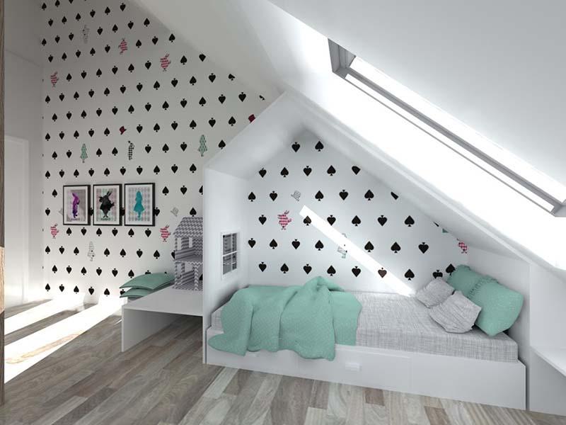 giấy dán tường màu trắng đen
