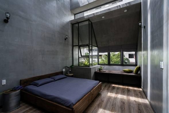 Phòng ngủ được thiết kế thoáng đãng
