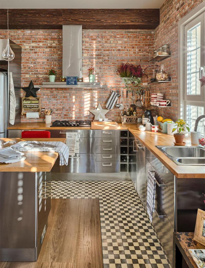 căn bếp thiết kế phong cách công nghiệp