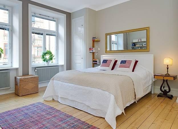 Thiết kế nội thất phòng ngủ trần thấp