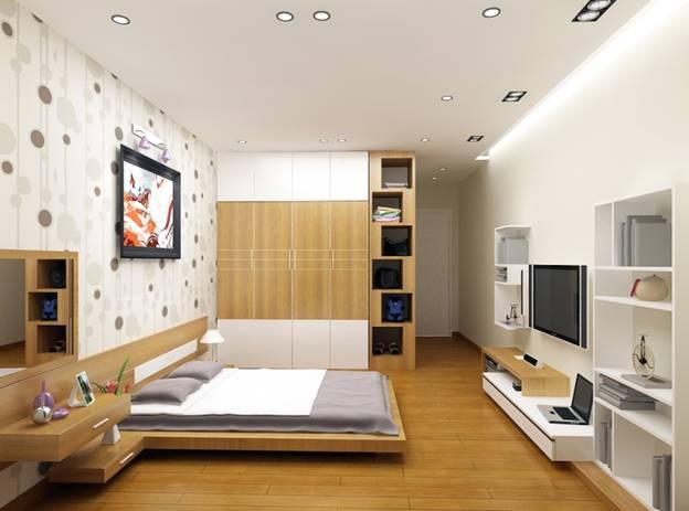 phòng ngủ nhỏ, trần thấp