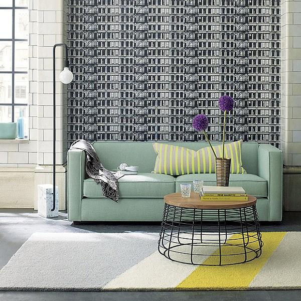 ghế sofa màu bạc hà