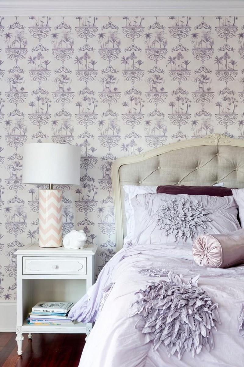 Mẫu giấy dán tường phòng ngủ dành cho những cô nàng lãng mạn