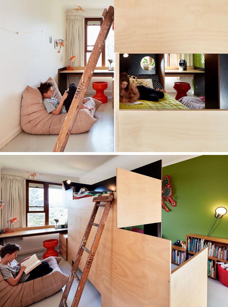 giường tầng bằng gỗ