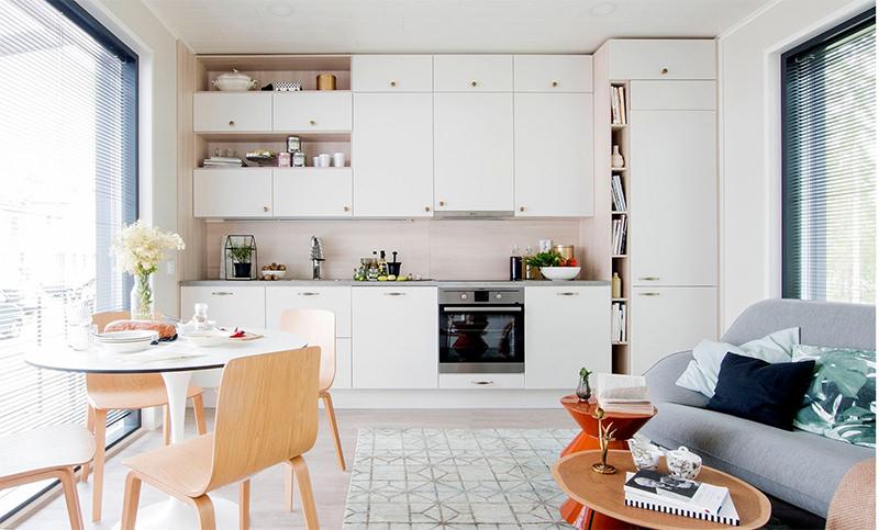phòng bếp thoáng gọn đẹp