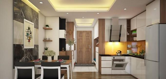 Những mẫu phòng bếp mở đẹp, tiện ích dành cho căn hộ chung cư