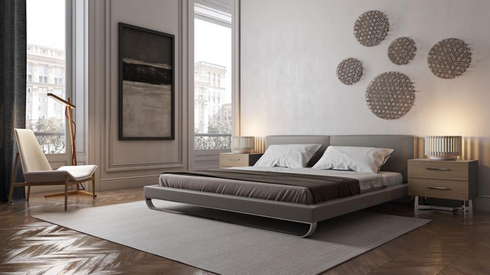 Giường phủ crom