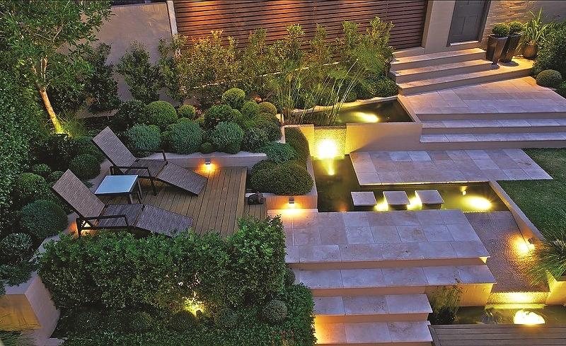 chiếu sáng cho sân vườn