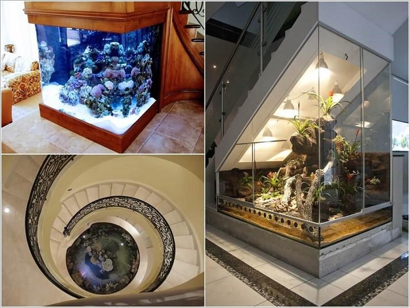 Bể cá cảnh dưới gầm cầu thang
