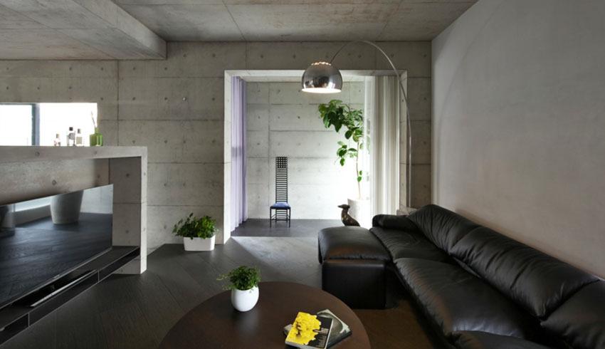 tường bê tông đẹp