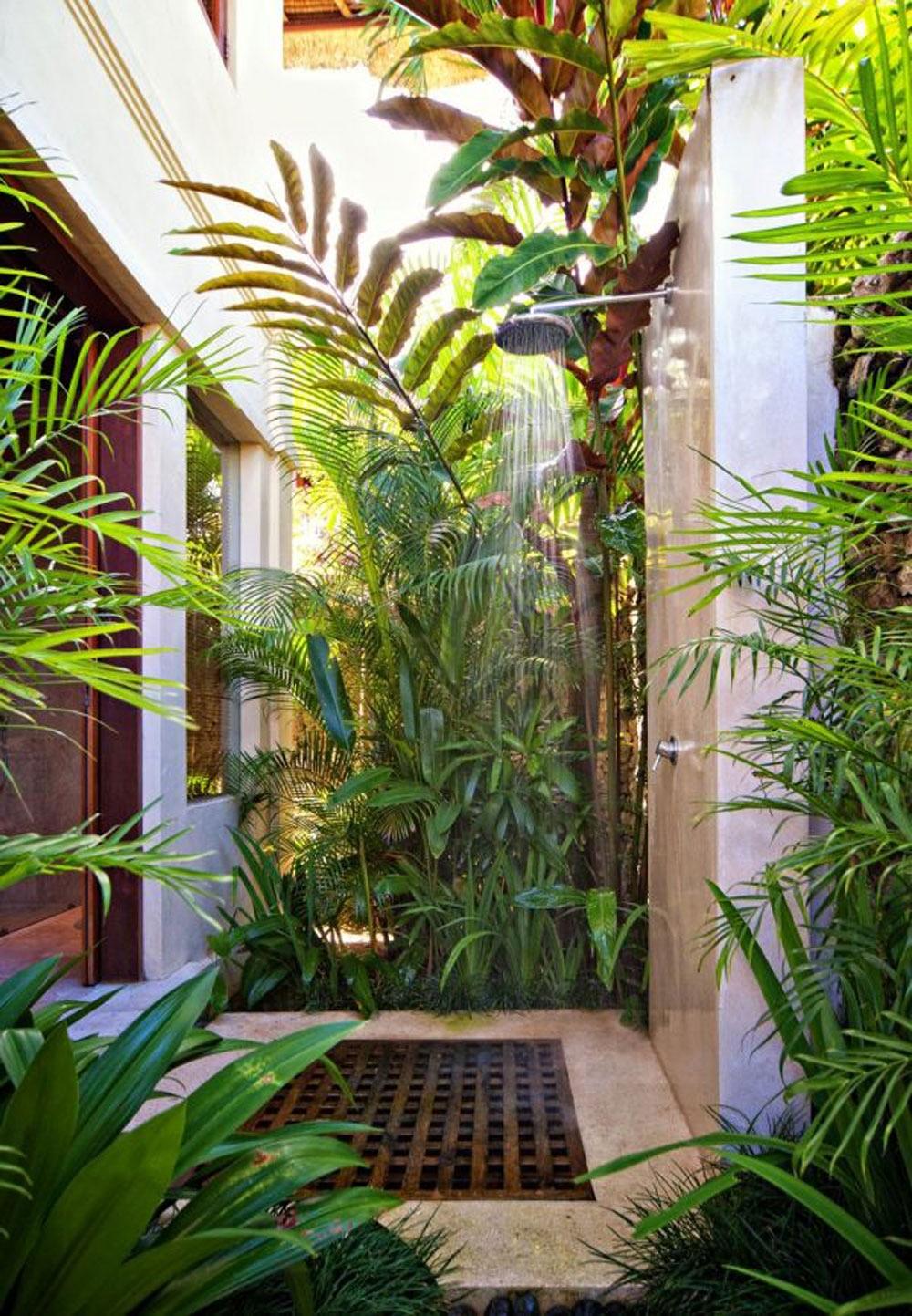 Phòng tắm ngập tràn cỏ cây xanh mát
