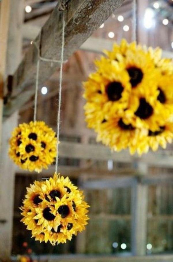quả cầu hoa hướng dương