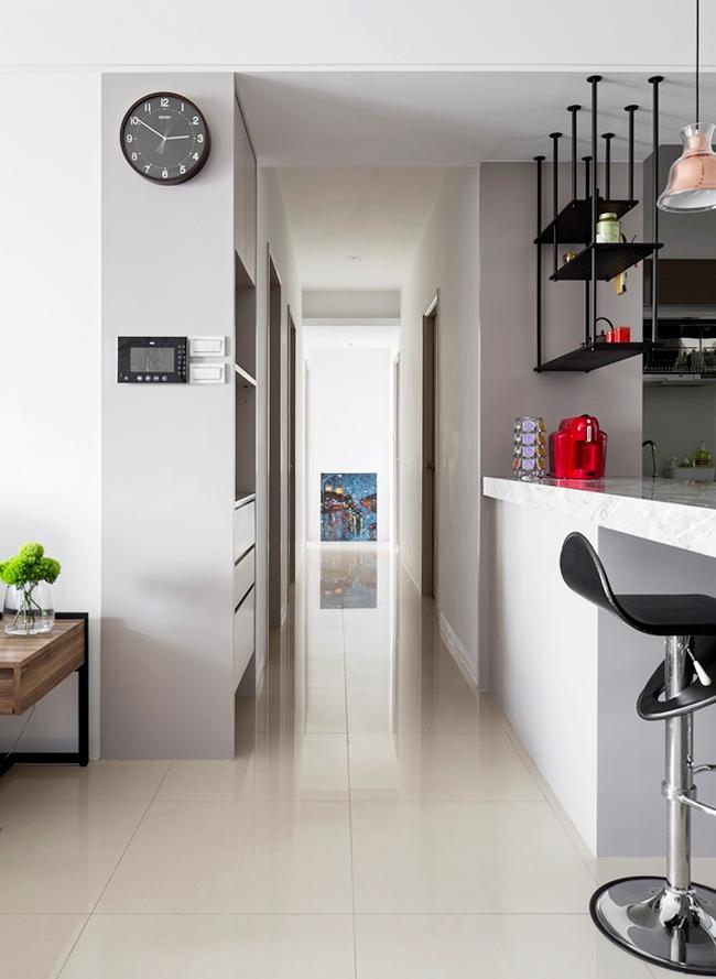 hành lang căn hộ rộng rãi