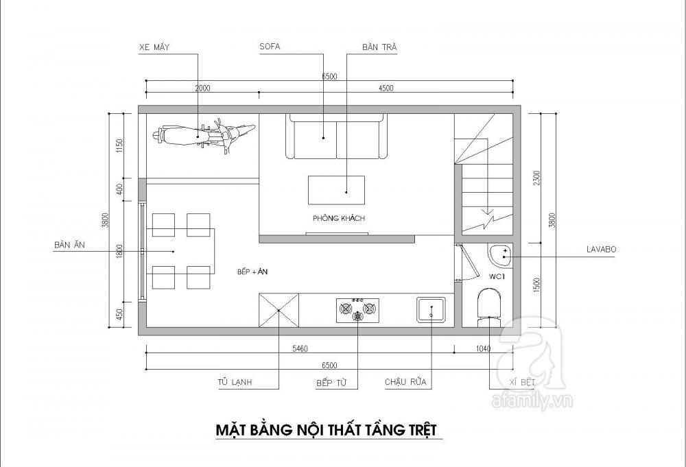 Tư vấn thiết kế nhà ống 24m2 dành cho gia đình 4 người