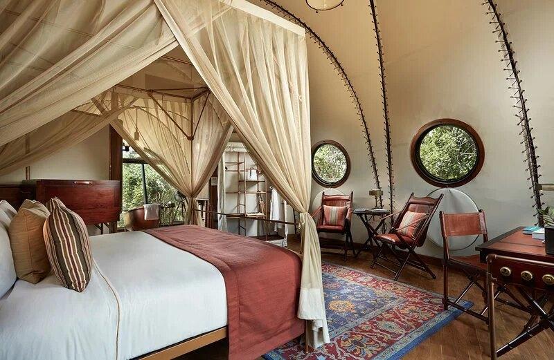 phòng nghỉ dưỡng dạng lều kén