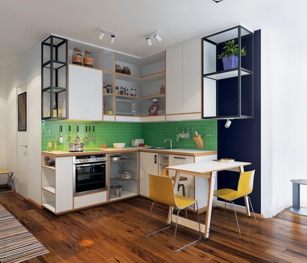 phòng bếp nhỏ xinh