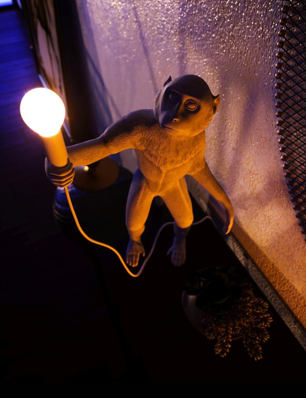 giá đỡ đèn hình chú khỉ