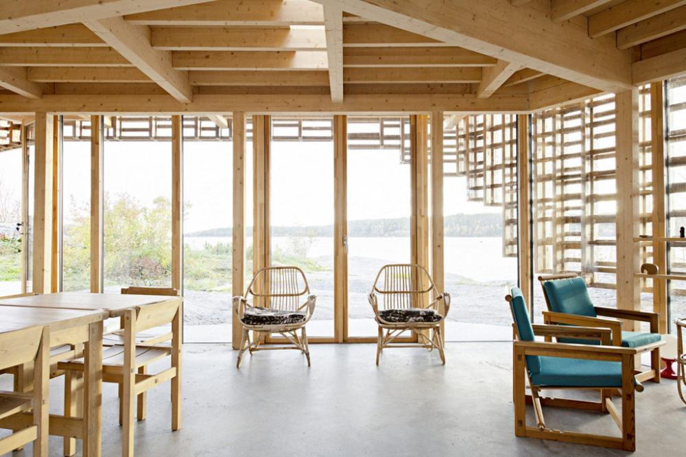 nhà kính khung gỗ độc đáo ở Na Uy