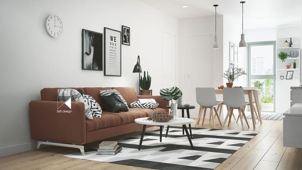 ghế sofa màu nâu êm ái