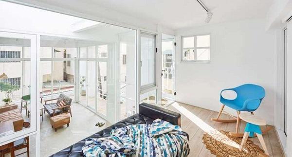 không gian ngủ nghỉ trên tầng 2