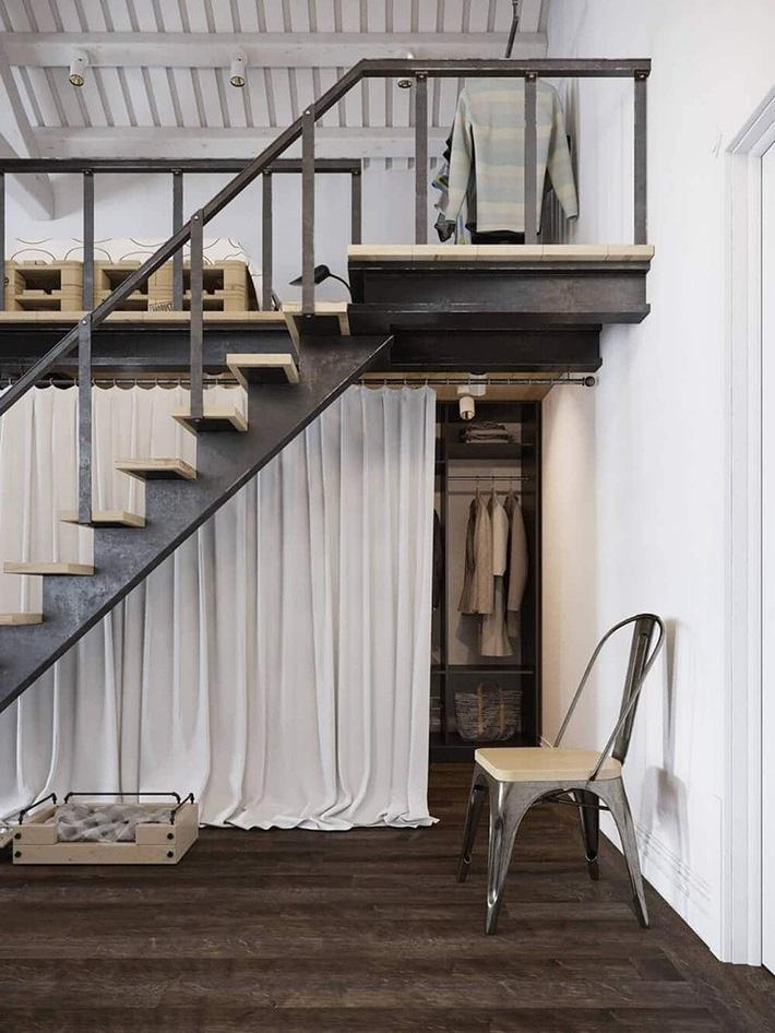 Cầu thang nhỏ gọn