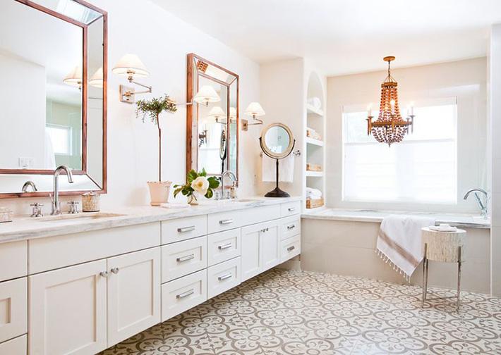 trang trí phòng tắm theo phong cách hiện đại