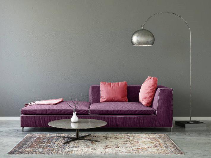 ghế sofa tím oải hương