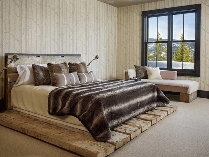 Những mẫu giường pallet làm từ gỗ mộc