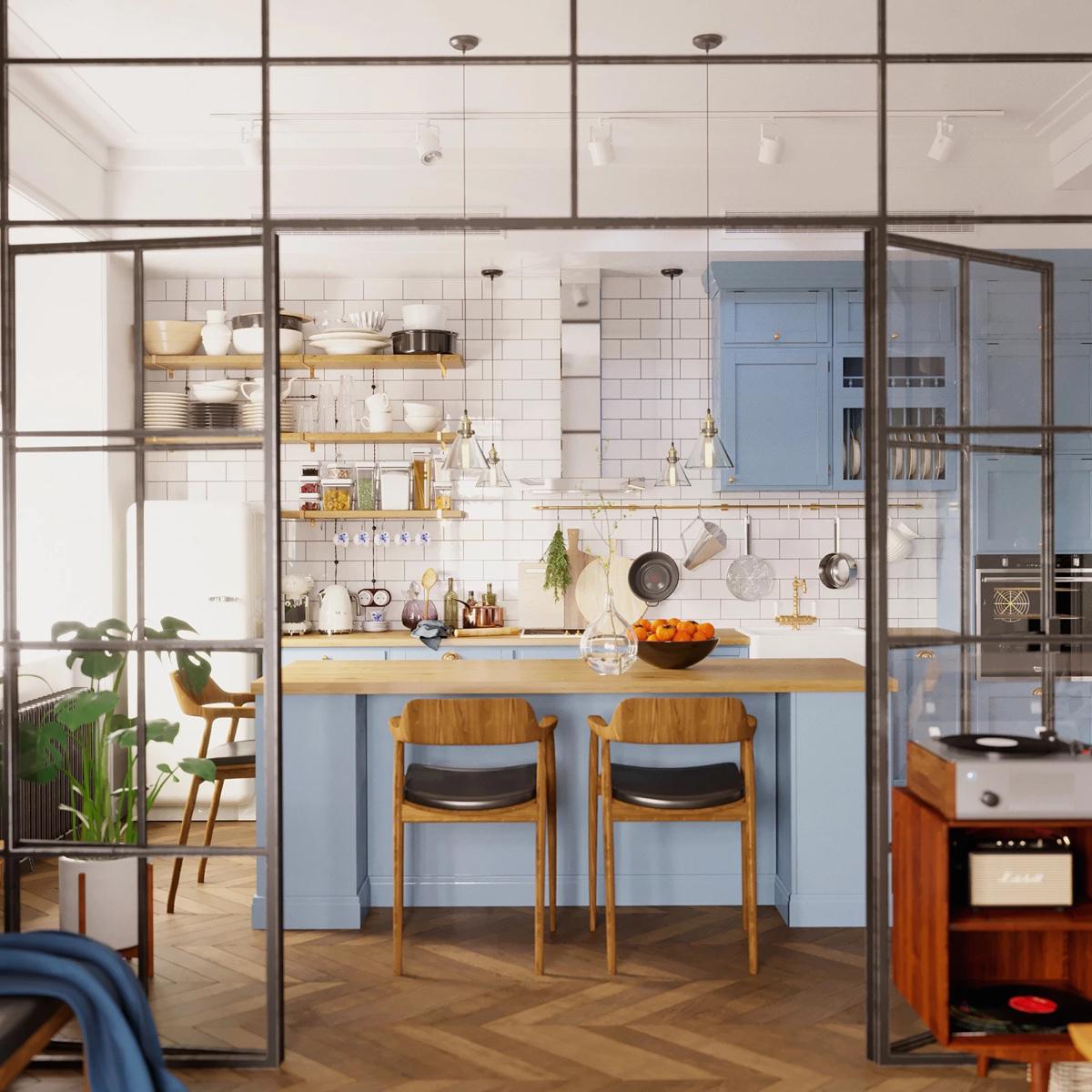 không gian bếp ăn đẹp