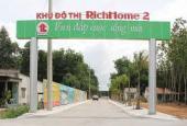 Bán lô góc 2 mặt tiền P4 (104m2) dự án Rich Home 2- Hòa Lợi- Bến Cát- Bình Dương. LH 0934 855 499