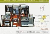 Bán gấp căn hộ chung cư HUD3 Tower 121 - 123 Tô Hiệu, Hà Đông, DT 117m2