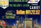 Nhà 2 phòng ngủ, 1 phòng khách, ngân hàng Vietcombank hỗ trợ trả góp 5-15 năm, LH: 0911.212.552