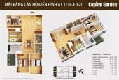 Chủ đầu tư bán căn góc 130,4m2 bc hướng Nam dự án Capital Garden 102 Trường Chinh
