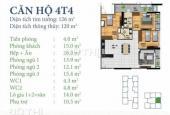 Bán căn hộ chung cư tại Q.Bắc Từ Liêm, Hà Nội, diện tích 120m2, 3PN, giá 27 triệu/m²