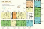 Bán chung cư Eco Green City, tầng 15 căn 15, DT: 55,53m2, giá rẻ 24tr/m2. LH 0985.752.065
