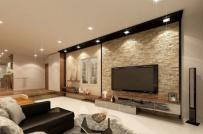 Gạch ốp tường giúp phòng khách thêm sang trọng