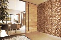 Vẻ đẹp vượt thời gian của tường nhà bằng gạch mosaic gỗ