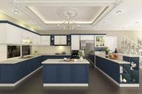 Sáng tạo với căn bếp xanh coban