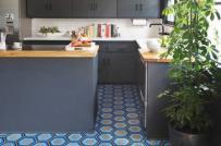Ấn tượng gạch lục giác cho sàn bếp