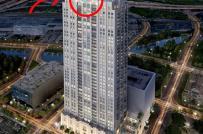 Bể bơi chung cư có đáy nhìn xuyên thấu từ tầng 42 xuống đường